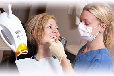 Zoom Teeth Whitening patient at Hamilton dentistry office, Westdale Dental Care, Dundas, Ancaster